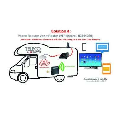 Accessoires TELECO Phone booster van + routeur WTF400